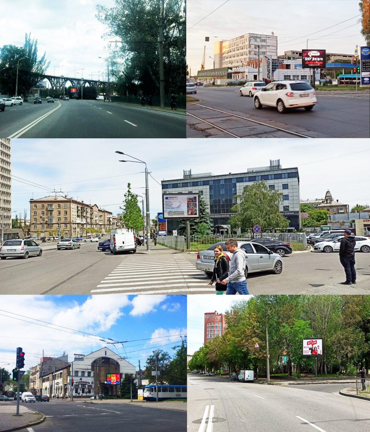 IDMedia Наружная реклама в городе Днепр (Днепропетровская область), Экран в городе Днепр №240756 схема
