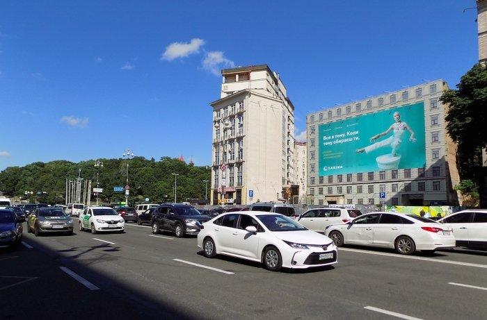 Брандмауэр №240777 в городе Киев (Киевская область), размещение наружной рекламы, IDMedia-аренда по самым низким ценам!