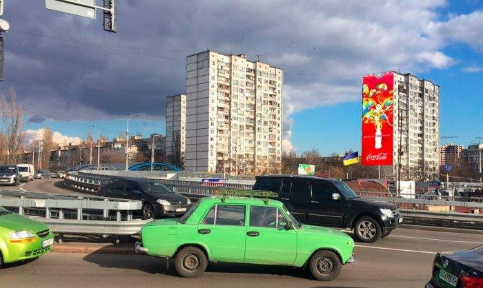 Брандмауэр №240782 в городе Киев (Киевская область), размещение наружной рекламы, IDMedia-аренда по самым низким ценам!