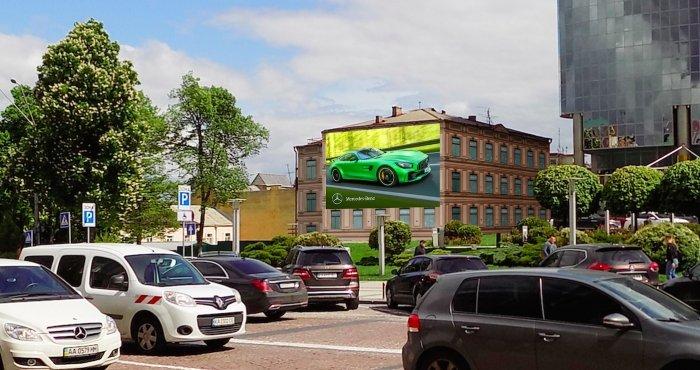 Брандмауэр №240802 в городе Киев (Киевская область), размещение наружной рекламы, IDMedia-аренда по самым низким ценам!