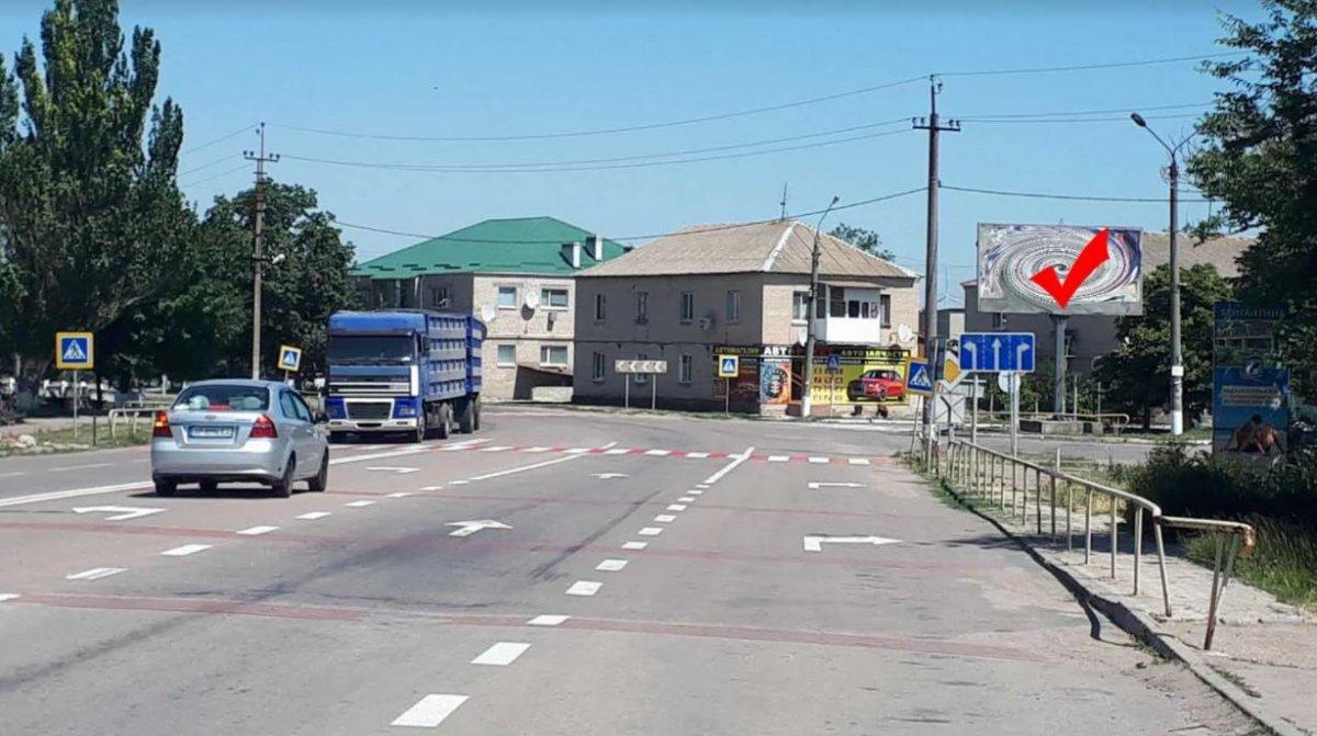 Билборд №241561 в городе Приморск (Запорожская область), размещение наружной рекламы, IDMedia-аренда по самым низким ценам!