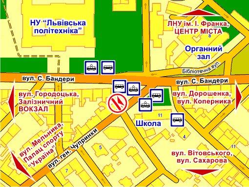 IDMedia Наружная реклама в городе Львов (Львовская область), Брандмауэр в городе Львов №242905 схема