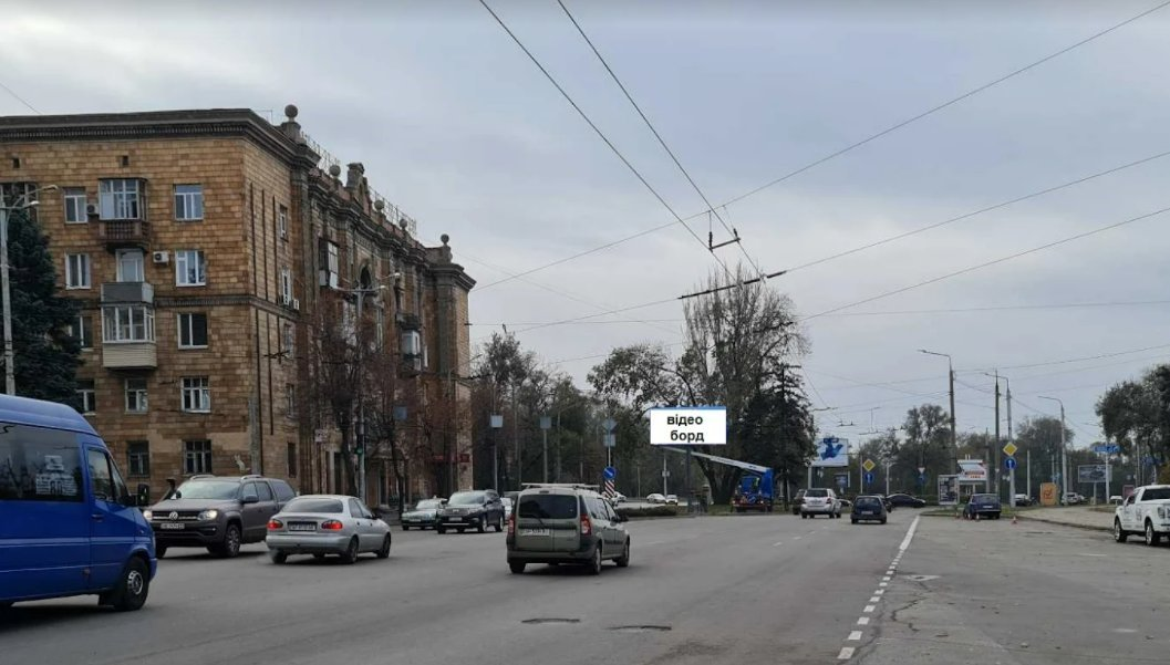 Экран №242944 в городе Запорожье (Запорожская область), размещение наружной рекламы, IDMedia-аренда по самым низким ценам!