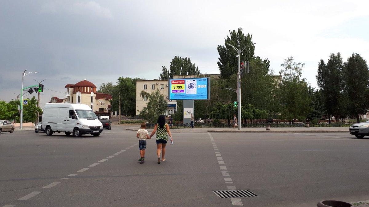 Экран №242952 в городе Мелитополь (Запорожская область), размещение наружной рекламы, IDMedia-аренда по самым низким ценам!
