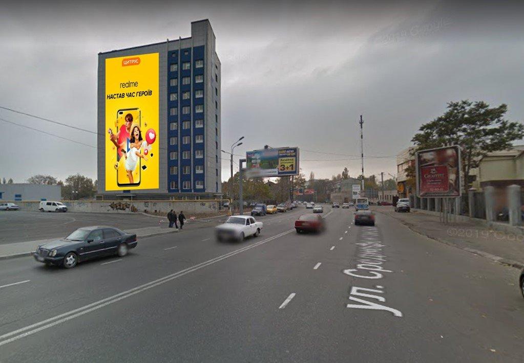 IDMedia Наружная реклама в городе Одесса (Одесская область), Брандмауэр в городе Одесса №243298 схема