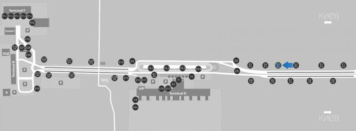 IDMedia Наружная реклама в городе Борисполь (Киевская область), Бэклайт в городе Борисполь №243379 схема