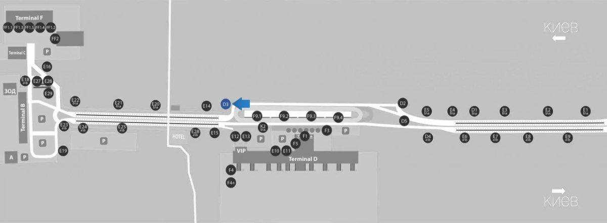 IDMedia Наружная реклама в городе Борисполь (Киевская область), Бэклайт в городе Борисполь №243380 схема