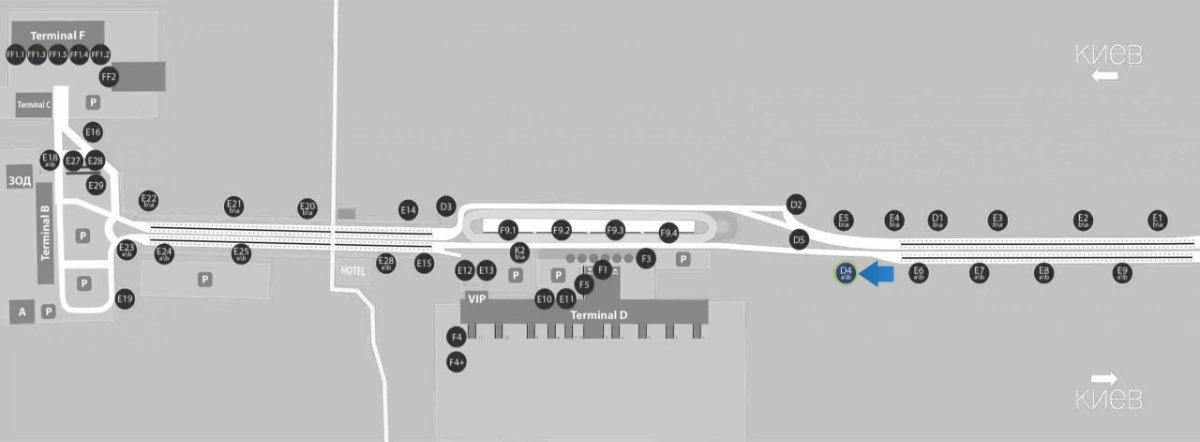 IDMedia Наружная реклама в городе Борисполь (Киевская область), Бэклайт в городе Борисполь №243382 схема