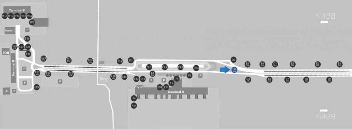 IDMedia Наружная реклама в городе Борисполь (Киевская область), Бэклайт в городе Борисполь №243384 схема