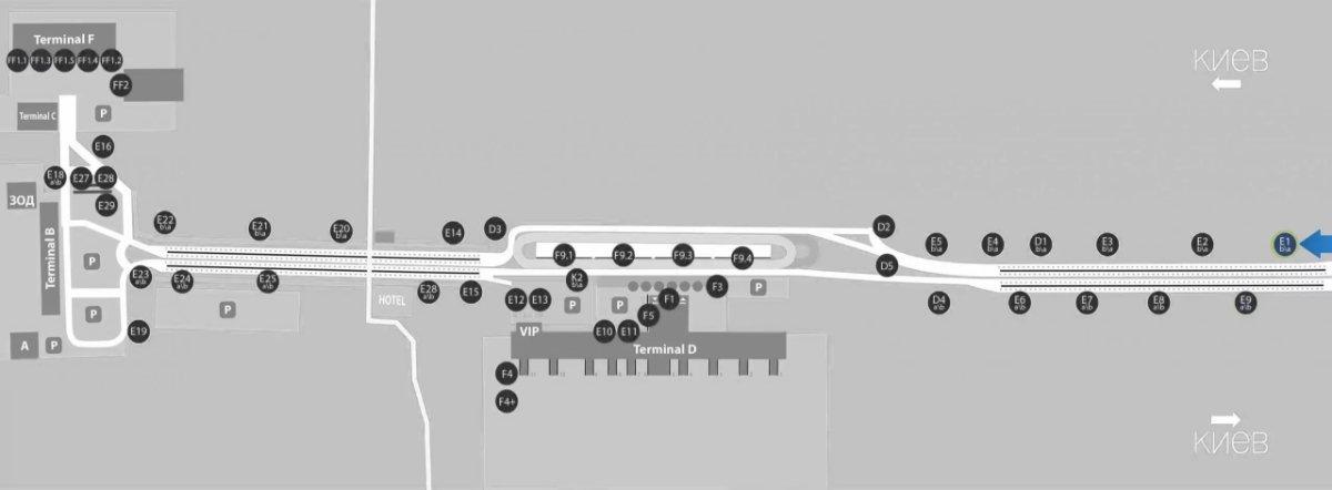 IDMedia Наружная реклама в городе Борисполь (Киевская область), Бэклайт в городе Борисполь №243385 схема