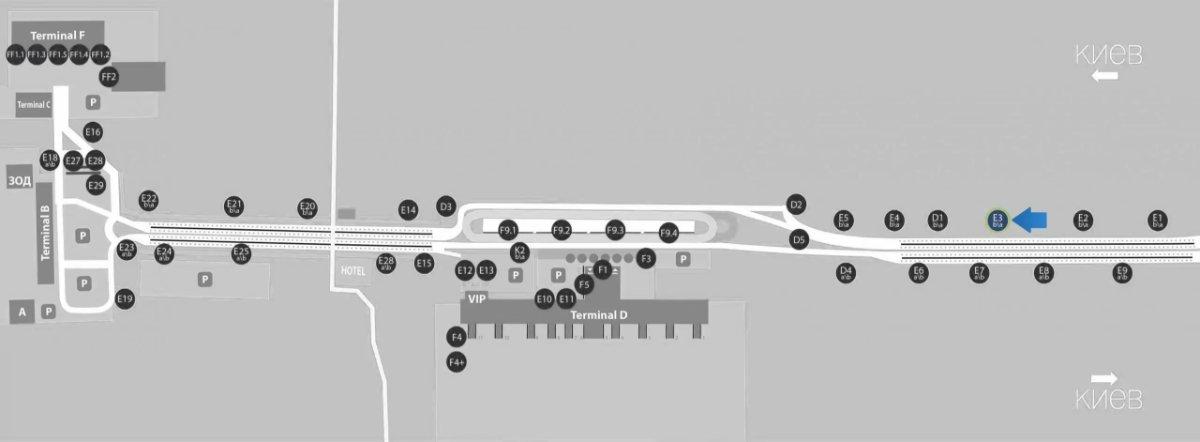IDMedia Наружная реклама в городе Борисполь (Киевская область), Бэклайт в городе Борисполь №243389 схема