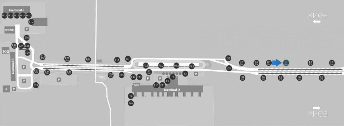 IDMedia Наружная реклама в городе Борисполь (Киевская область), Бэклайт в городе Борисполь №243390 схема