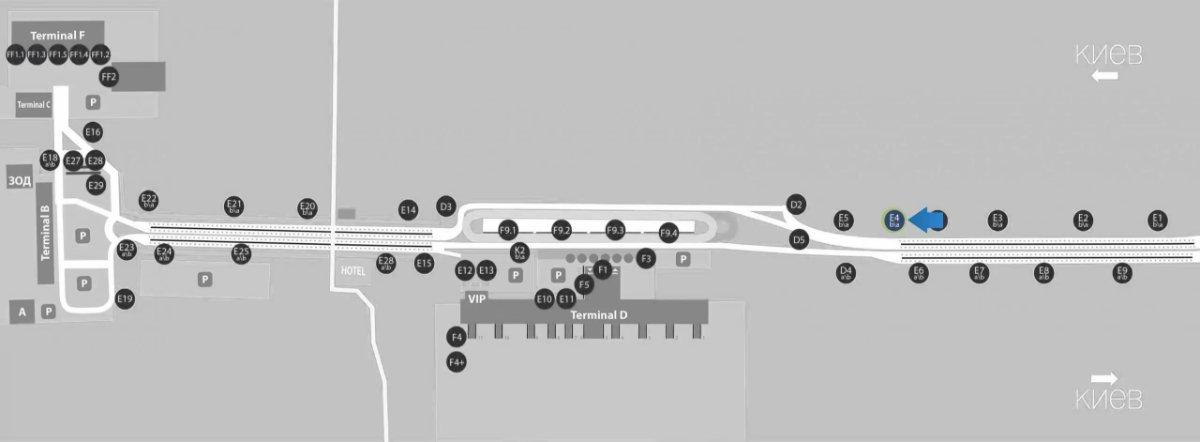 IDMedia Наружная реклама в городе Борисполь (Киевская область), Бэклайт в городе Борисполь №243391 схема