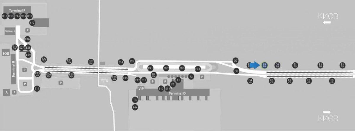 IDMedia Наружная реклама в городе Борисполь (Киевская область), Бэклайт в городе Борисполь №243392 схема