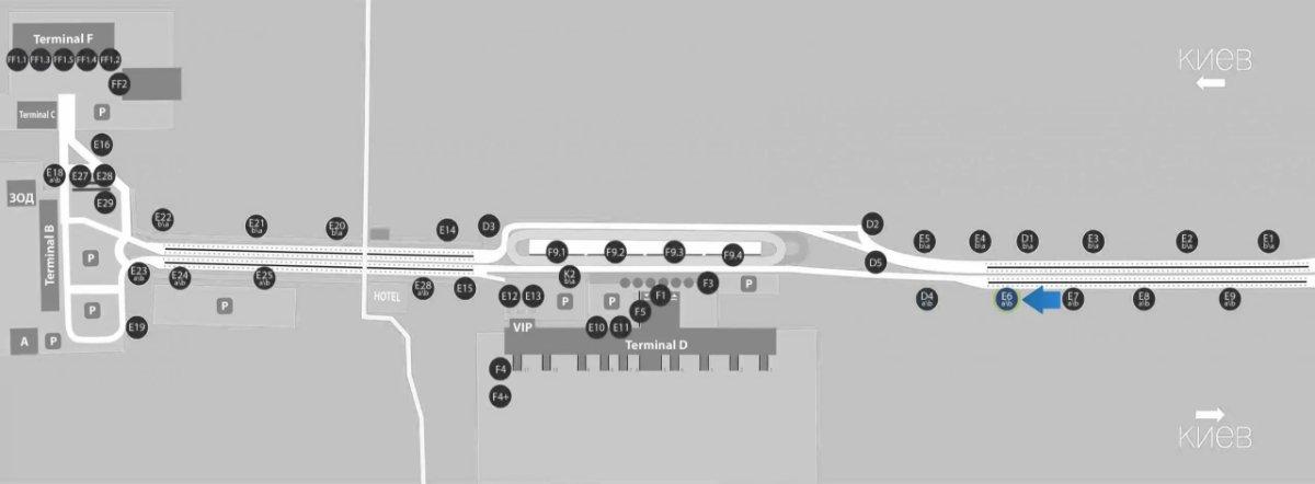 IDMedia Наружная реклама в городе Борисполь (Киевская область), Бэклайт в городе Борисполь №243394 схема