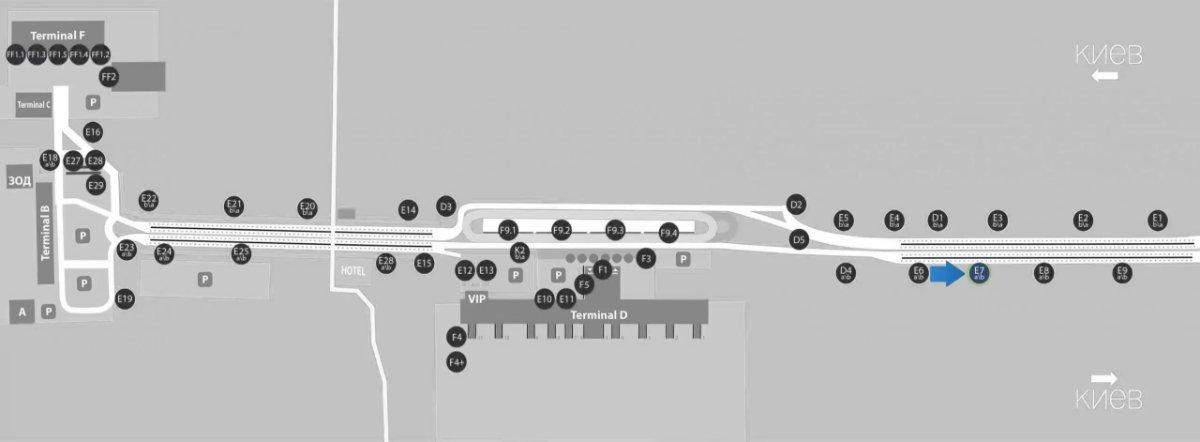 IDMedia Наружная реклама в городе Борисполь (Киевская область), Бэклайт в городе Борисполь №243395 схема