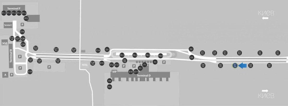 IDMedia Наружная реклама в городе Борисполь (Киевская область), Бэклайт в городе Борисполь №243396 схема