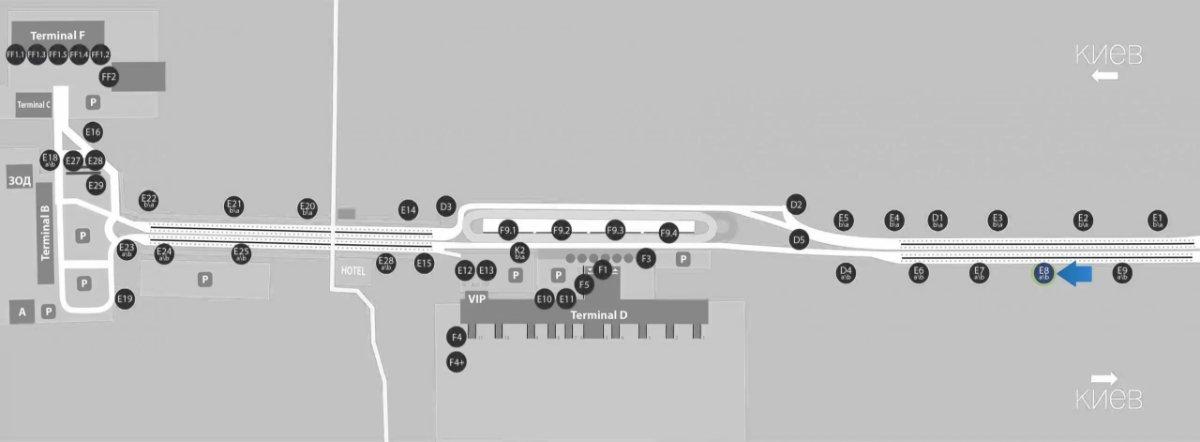 IDMedia Наружная реклама в городе Борисполь (Киевская область), Бэклайт в городе Борисполь №243397 схема