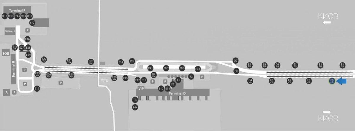 IDMedia Наружная реклама в городе Борисполь (Киевская область), Бэклайт в городе Борисполь №243398 схема
