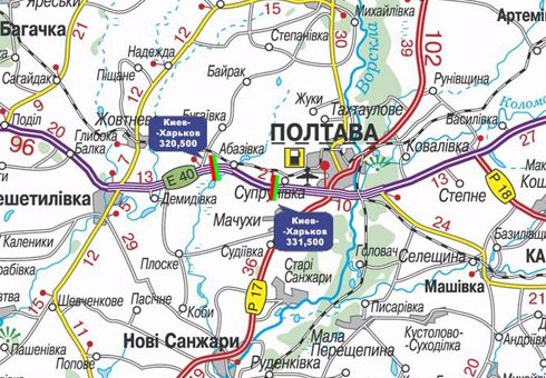 IDMedia Арендовать и разместить Арку в городе Полтава трасса (Полтавская область) №27589 схема