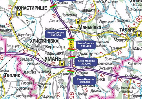 IDMedia Арендовать и разместить Арку в городе Черкассы трасса (Черкасская область) №27640 схема