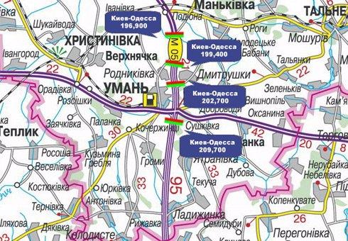 IDMedia Арендовать и разместить Арку в городе Черкассы трасса (Черкасская область) №27645 схема