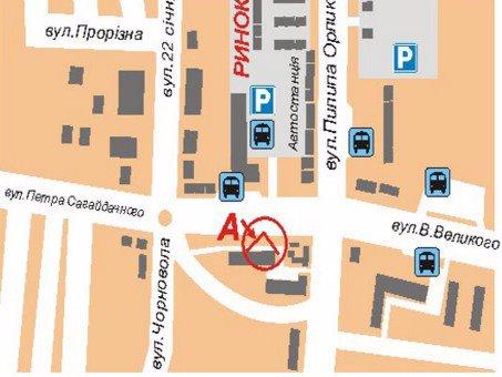 IDMedia Арендовать и разместить Билборд в городе Дрогобыч (Львовская область) №45169 схема