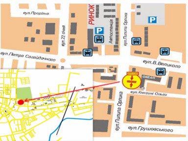 IDMedia Арендовать и разместить Билборд в городе Дрогобыч (Львовская область) №45174 схема