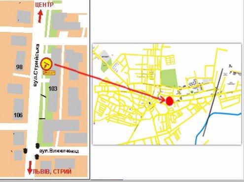 IDMedia Арендовать и разместить Билборд в городе Дрогобыч (Львовская область) №45176 схема