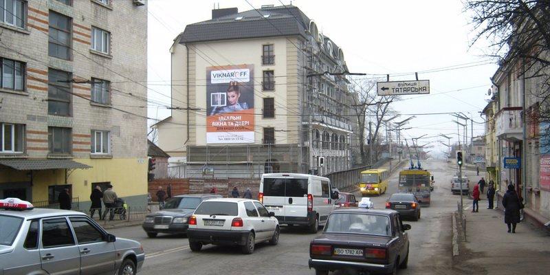 Брандмауэр №52150 в городе Тернополь (Тернопольская область), размещение наружной рекламы, IDMedia-аренда по самым низким ценам!