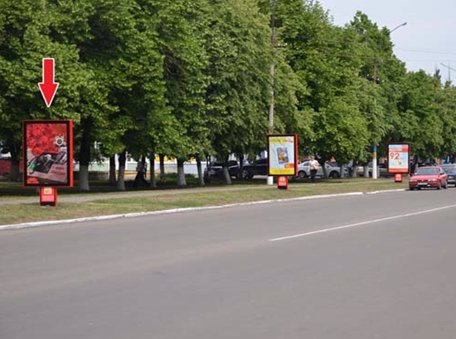 Ситилайт №53038 в городе Павлоград (Днепропетровская область), размещение наружной рекламы, IDMedia-аренда по самым низким ценам!