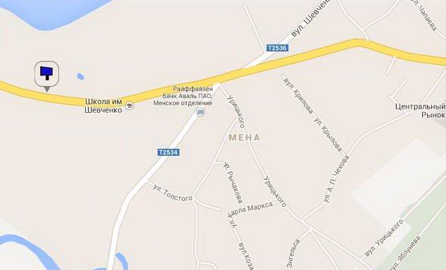 IDMedia Наружная реклама в городе Мена (Черниговская область), Билборд в городе Мена №5321 схема