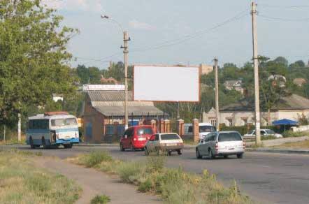 Билборд №66148 в городе Изюм (Харьковская область), размещение наружной рекламы, IDMedia-аренда по самым низким ценам!