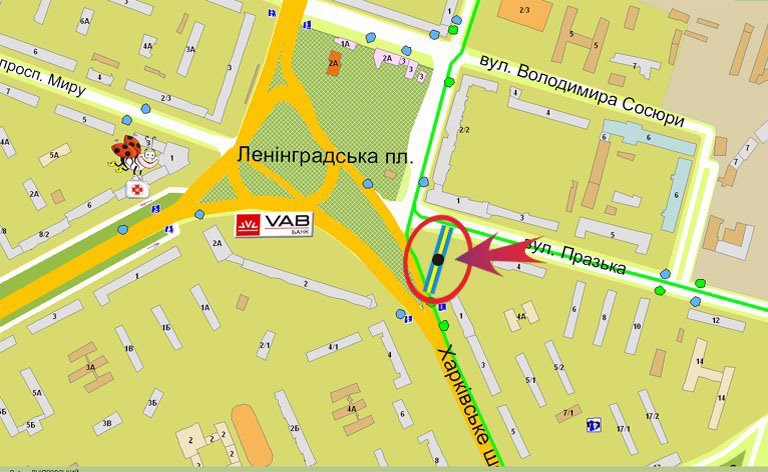 IDMedia Наружная реклама в городе Киев (Киевская область), Билборд в городе Киев №7007 схема