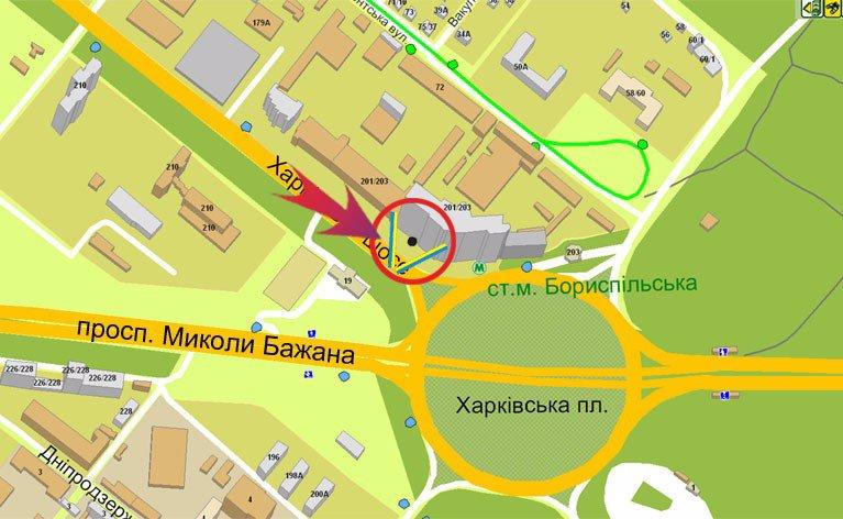 IDMedia Наружная реклама в городе Киев (Киевская область), Билборд в городе Киев №7188 схема