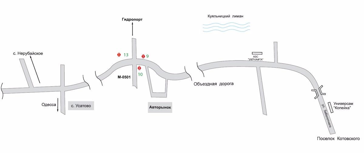 IDMedia Арендовать и разместить Билборд в городе Одесса трасса (Одесская область) №8081 схема