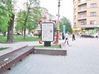 Ситилайт №92233 в городе Ивано-Франковск (Ивано-Франковская область), размещение наружной рекламы, IDMedia-аренда по самым низким ценам!